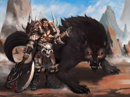 Captain Orc and Mr. Wolf by dante2906