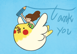 Thank you in Adventure time style ! by SuzumeChan
