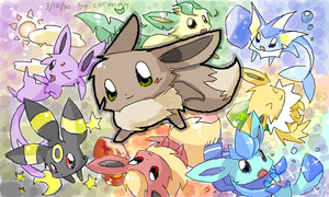 eevee family by Cocoroll