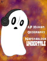 Napstablook Binder Cover by xXZorarkIllusionsXx
