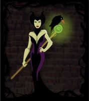 Maleficent Jolie green body by rickytherockstar