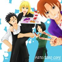 Fate/Zero Cafe by hy-chibi