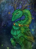 Celtic Dragon by JR-Dragona