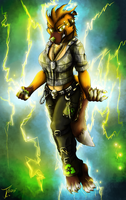 Comission. Mistress of Lightning by jamescorck