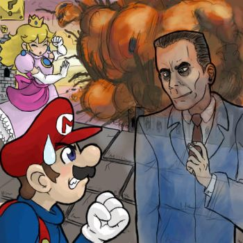 Mario and the Gman by DarkCloak