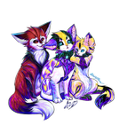 Group Hug! Commission by MidnightsBloom