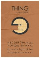 Thing Typeface 2 by mattcantdraw