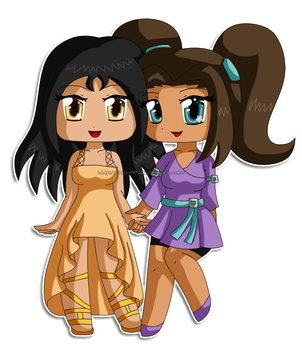 [Commission79] Chibi: Tahlia and Thermal by izka-197