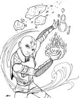 Aang, Master of All by Charger426