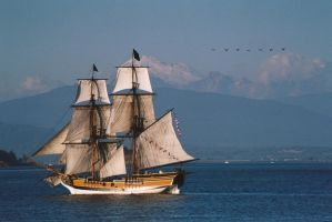 Lady Washington sunset by terrybare