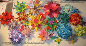 Kusudama out by Thundertori