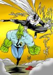 Savage Dragon and Haunt by violencejack666