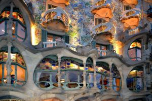 Windows by Antoni Goudi Barcelona Spain by Poddster