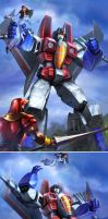 TRANSFORMERS LEGENDS STARSCREAM by manbu1977