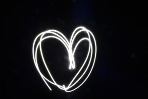 Lightpainting Heart by Mariestel