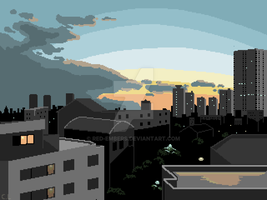 Tokyo Pixelscape by red-embers