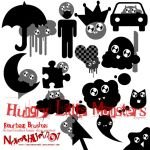 Hungry Little Monster Brushes by neverhurtno1