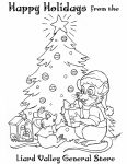 Christmas Coloring Page by SlayerSyrena