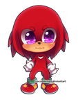 Chibi Knuckles by cioccoMELLO