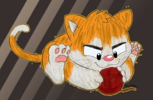 Sketchy Paws The Cat by Cartcoon