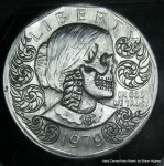 Skull and Scrollwork Carve US Dollar by shaun750