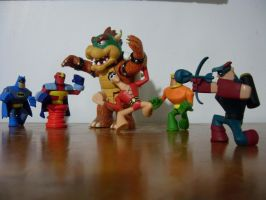 Bowser VS. the Justice League by mariomaster88