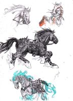 Darksiders Horses by S-concept