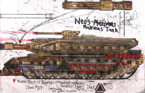 Necros Empire Neos Maximus MBT by Lord-DracoDraconis