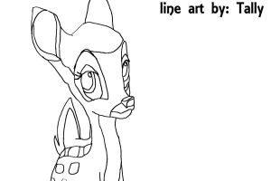 Faline line art by TallyBaby13