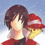 Red and Pikachu by Roos-Vicee