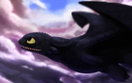 HTTYD - Toothless Wallpaper by Duiker
