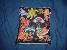Chinese Pillow by bluelilyoffire3