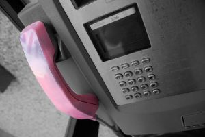 Pink telephone by Siccie