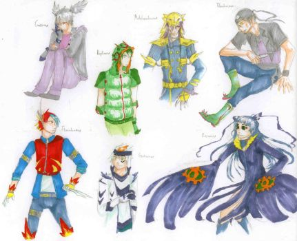 Digimon gijinka by SilverDialga