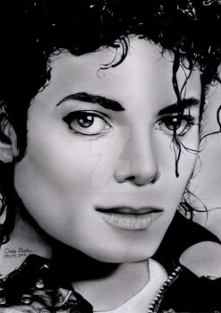 Michael Jackson Bad era by Chrisbakerart