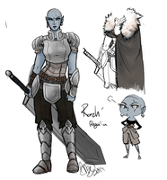 Bald sister dunmer by AngePillowcat