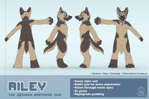 Riley the GSD- Toony Style Concept by CanineHybrid