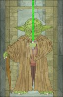 Yoda Stained Glass by jmascia