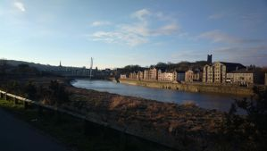 View of Lancaster from the cycle track by thehobnob