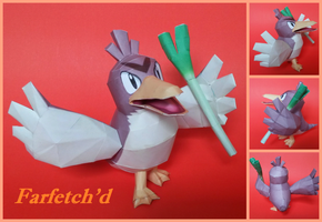 Farfetch'd Papercraft by jack-cruz