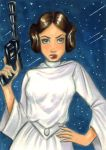 Leia Sketch Card Commission by em-scribbles