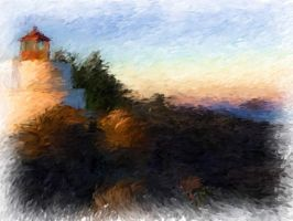 lighthouse painting by greenbaypara