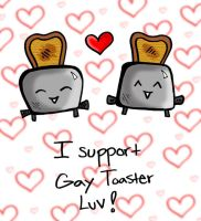 gay toaster luv by kustushoe