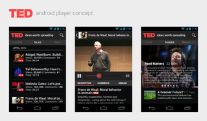 TED talks android client by spiceofdesign