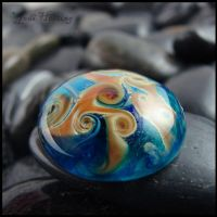 Umbriel - Glass Cabochon by andromeda