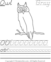 Mommysbiz | O-Owl-Gray Preschool Worksheet by DanaHaynes