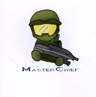 Master Chief Gone Chibi by Bluejay1