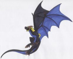 Kir in flight by Scatha-the-Worm