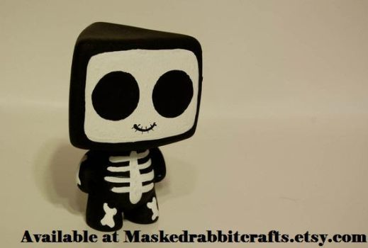 Skeleton HeartBot by maskedrabbitcrafts