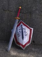 Cullen's Templar sword and shield - Dragon Age 2 by tatjna